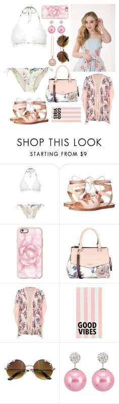 """""""Delilah - Pool Day"""" by gracethewallflower01 ❤ liked on Polyvore featuring Zimmermann, Steve Madden, Casetify, Fiorelli, River Island, PBteen and Thomas Sabo"""