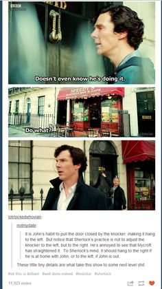 One of the many reasons Sherlock and John are awesome partners and friends!!