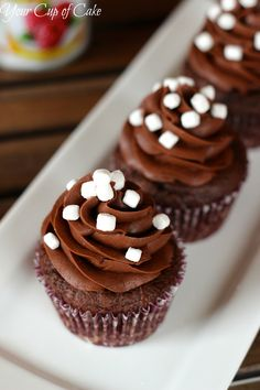 Raspberry Hot Chocolate Cupcakes - Your Cup of Cake