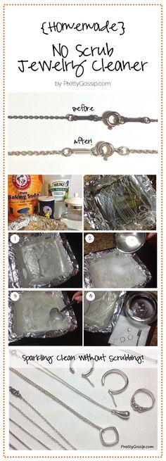 #DIY Homemade Jewelry Cleaner (No Scrubbing!)