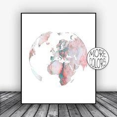 Europe Map, Globe Art, Europe Print, Globe Print, Globe Decor, World Map Poster, World Map Wall Art, World Map Print, World Map Decor #WorldMapPoster #EuropePrint #WorldMap #GlobePrint #WorldMapPrint #ArtPrintsZoe #GlobeDecor #EuropeMap #Globe #GlobeArt
