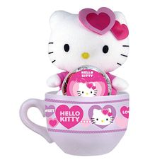 524594a1faf HELLO KITTY Valentine s Day Plush + Coffee Mug + Hard Candy Gift Set   HelloKitty