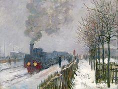 Claude Monet, Train in the snow (Le train dans la neige), N/D Oil on canvas