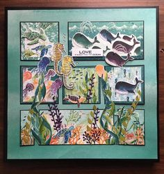 Craft Paper Storage, Box Frame Art, Nautical Cards, Beach Cards, Holiday Pictures, Stamping Up Cards, Animal Cards, Paper Cards, Homemade Cards