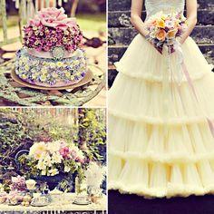 Marie Antoinette Wedding Flowers Bouquet Cake Maui Hawaii
