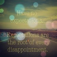 expectations. read about mine...
