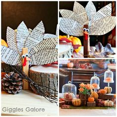 Giggles Galore: Clothespin Turkey Craft