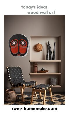 Modern Home Wall Decor with Wood Wall Art at Art On Walls Black Abstract, Home Wall Decor, Wood Wall Art, Home Art, Bookcase, Dining Chairs, Walls, Living Room, Interior Design