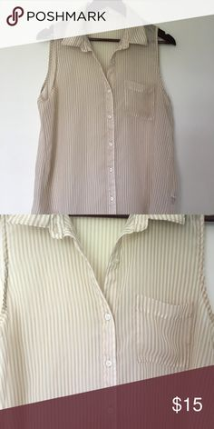 Button Up Tank Sheer Button Up Tank | Great Condition | Size is Large but will fit medium well also Forever 21 Tops Tank Tops