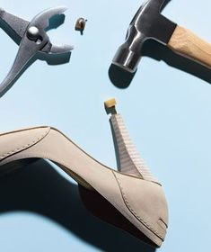 DIY shoe repair for heels - replace a worn down heel tip.