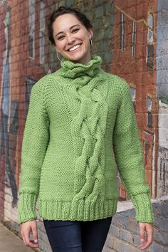 Giant sequoias are the largest trees in the world and inspired the name for this relaxed sweater that features a dramatic cable panel on the Sweater Knitting Patterns, Knit Patterns, Free Knitting, Jumpers For Women, Sweaters For Women, Universal Yarn, Cable Knit Sweaters, Free Pattern, Pullover