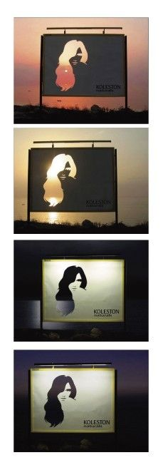 great ad concept! it will look different each time you see it.