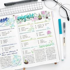 "1,594 Likes, 26 Comments - Yu | Bullet Journal, Studygram (@bluelahe) on Instagram: ""Completed spread Tbh last week was not a really good week but at least I like how this page…"""