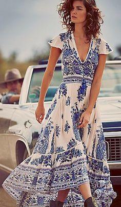 Beautiful semi-sheer maxi dress