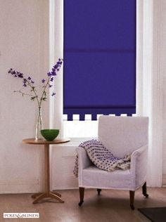 Modern roller blinds are anything other than boring. They are available with many stunning finishes and in a glorious range of colours. From £32. View Online http://www.polesandblinds.com/vibe-grape-juice-roller-blind/ #interiors #blinds #livingrooms #homedecor