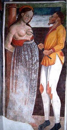 Martirio di Sant'Agata Medieval World, Medieval Art, Renaissance Art, Catholic Art, Catholic Saints, Religious Art, Creatures Of The Night, Weird Creatures, Ancient History