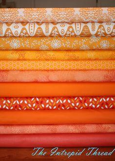 assorted oranges by Intrepid Thread