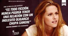 Kristen Stewart // #HumorBarrilete Frases y Citas de #Humor