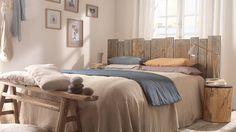 tete de lit planches de bois palettes