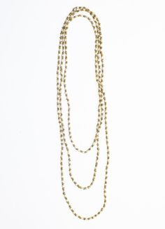fun, versitile Noonday necklace - also cute layered four times as a shorter necklace; can be worn as a bracelet also