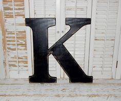 large wood letter k distressed 18 inch wooden letter ready to ship by hensnesttreasures on etsy