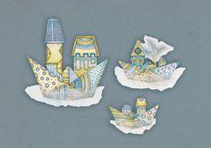 Floating houses | 2013 by Masha Bartanayev | YaMasha , via Behance
