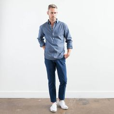Elk Head Clothing's indigo-dyed oxford popover.