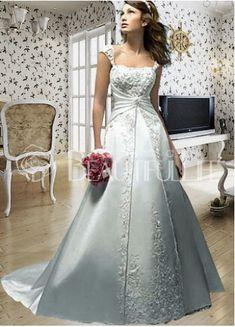Silver Wedding Dress #weddings