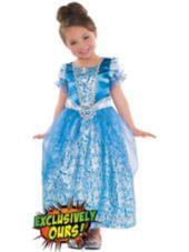 Girls Glitter Cinderella Costume-Party City $19.99