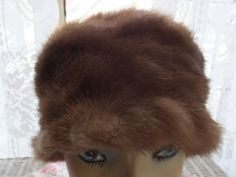 Vintage Tan Brown Soft Warm Winter Mink Fur Cloche Cossack Skull Russian Hat | eBay