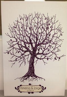 Árbol de huellas impreso en canvas y montado sobre bastidor en ArtWorks Studio
