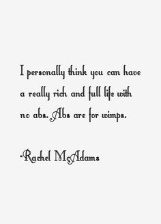 Rachel McAdams Quotes & Sayings
