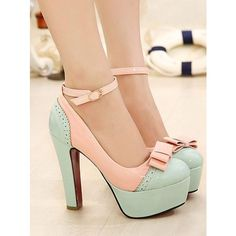 New Ideas Heels High Zapatos Pretty Shoes, Beautiful Shoes, Crazy Shoes, Me Too Shoes, Mode Lolita, Shoe Boots, Shoes Heels, Wedge Boots, Bow Heels