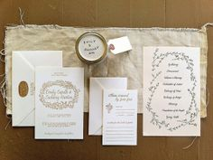 Hand lettered wedding suite