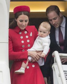 Prince George arrives in New Zealand with his parents Kate and William Picture: Robin Nunn (Picture: Robin Nunn)