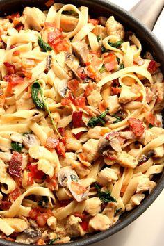 Creamy Mushroom Chicken Pasta RecipeReally nice recipes. Every  Mein Blog: Alles rund um die Themen Genuss & Geschmack  Kochen Backen Braten Vorspeisen Hauptgerichte und Desserts # Hashtag