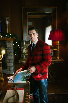 Holiday Fashion Editorial featuring Red Fleece by Brooks Brothers blazer. New England Prep, Playwright, Actor Model, Holiday Fashion, Brooks Brothers, Editorial Fashion, Actors, Blazer, Red