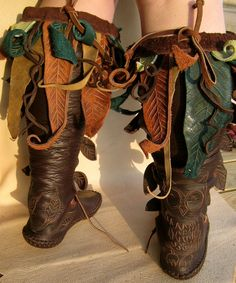Knee High Owl Forrest Boot. $675.00, via Etsy. So foresty-my kinda boot to disappear in