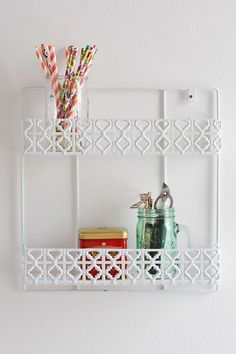 Double Decker Wall Shelf