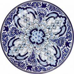 12 in. Talavera Uriarte Ceramic Plate N. 5