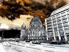 Berliner Art Print featuring the mixed media Berliner Dom by Cuiava Laurentiu Art Prints, Poster Prints, Fine Art America, Image, Acrylic Prints, Art, Printing Companies, All Art, Archival Ink