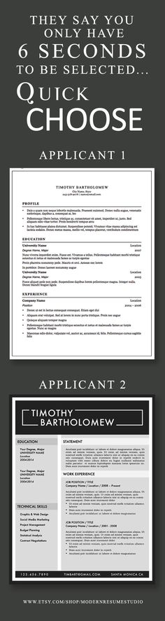 Make A Quick Resume Custom Your Resume Has 3 Minutes 14 Seconds To Make A Good Expressionnice .