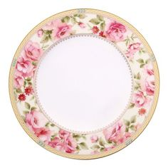I'm a sucker for anything Noritake; a hit of floral pink around the rim of this gorgeous plate just lights my fire! Plated Reviews, China Plates, Salad Plates, Floral Motif, Noritake, Bone China, Vibrant Colors, Miniatures, Table Settings