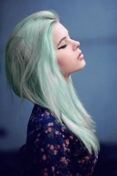 light teal hair
