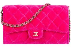 Chanel Small Velvet Pouch With A Removable Chain