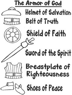 Armor of God craft and color sheet by JannySue Bible Activities For Kids, Bible Study For Kids, Bible Stories For Kids, Kids Bible, Kids Church Lessons, Bible Lessons For Kids, Sunday School Crafts For Kids, Sunday School Lessons, Armor Of God Lesson
