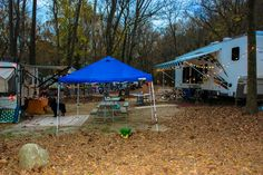 Family Area Full Hook Up Buddy Sites. Campers can face awning to awning.