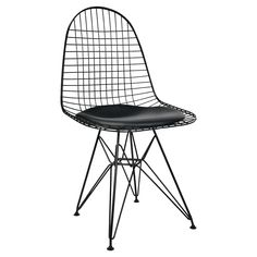 Crafted from commercial grade powder-coated steel, our replica Eames wire chair adds an air of industrial chic and contemporary cool to any modern dining Wire Chair, Industrial Chic, Eames, Contemporary, Modern, Teak, Interior Design, Retro, Home Decor
