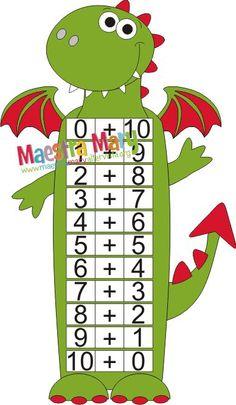 Draghetto e i numeri amici del 10 per ricordare tutti i numeri amici del 10.