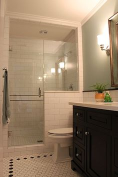Basement bathroom - Traditional 3/4 Bathroom - Found on Zillow Digs